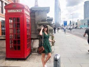 Zara Tea dress in Green floral