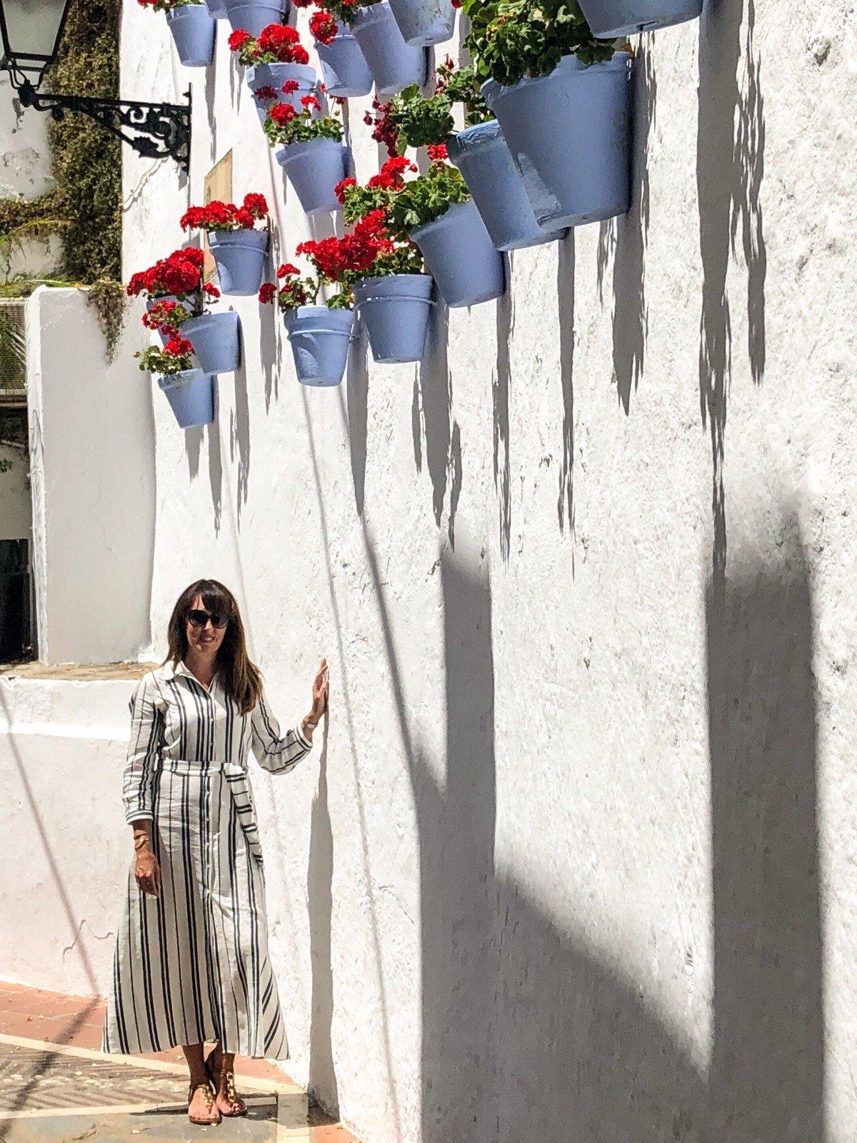 Zara Maxi Shirt dress in Marbella old Town