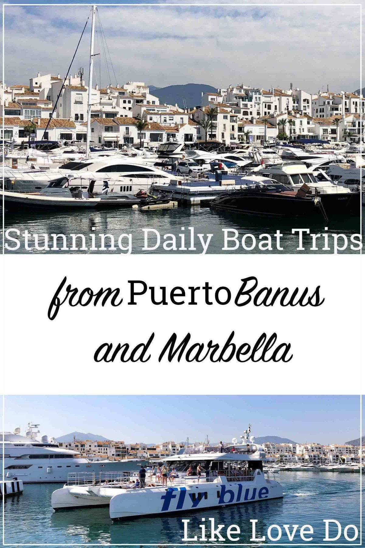 stunning daily Boat trips from Peurto Banus to Marbella the perfct way to see Marbella old Town