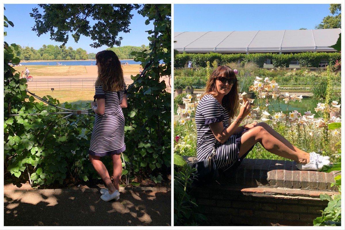 Boden breton Strip T-shirt dress