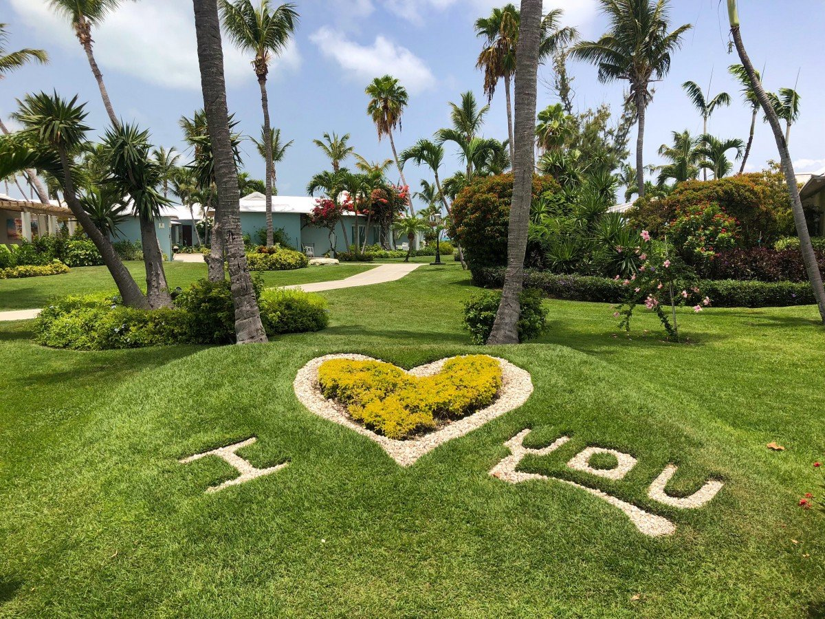 Beaches Resort Turks and Caicos I love you sign in gardens