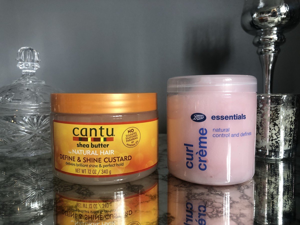 Cantu define and shine custard, Boots curl essentials is good but has some slightly drying alcohols so should not be used excessively