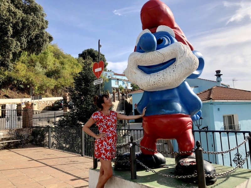 Visit Júzcar the Smurf Village in Spain Which is Entirely Blue