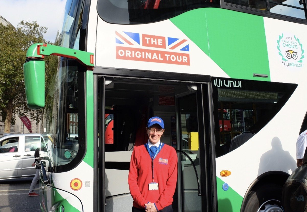 The Original Tours First 100% Electric Open Top Tour Bus in London