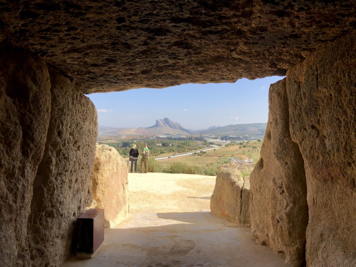 Peña de los Enamorados seen from Menga Dolman
