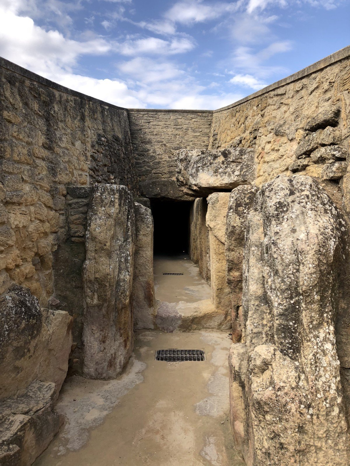 The entrance to The Dolmen of Viera's long corridor tomb.