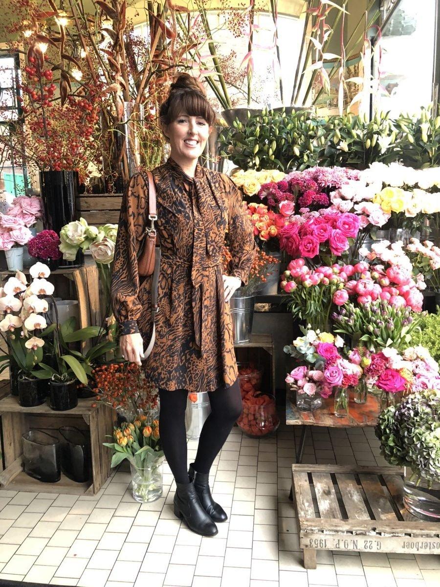 Topshop Rust leopard print dress