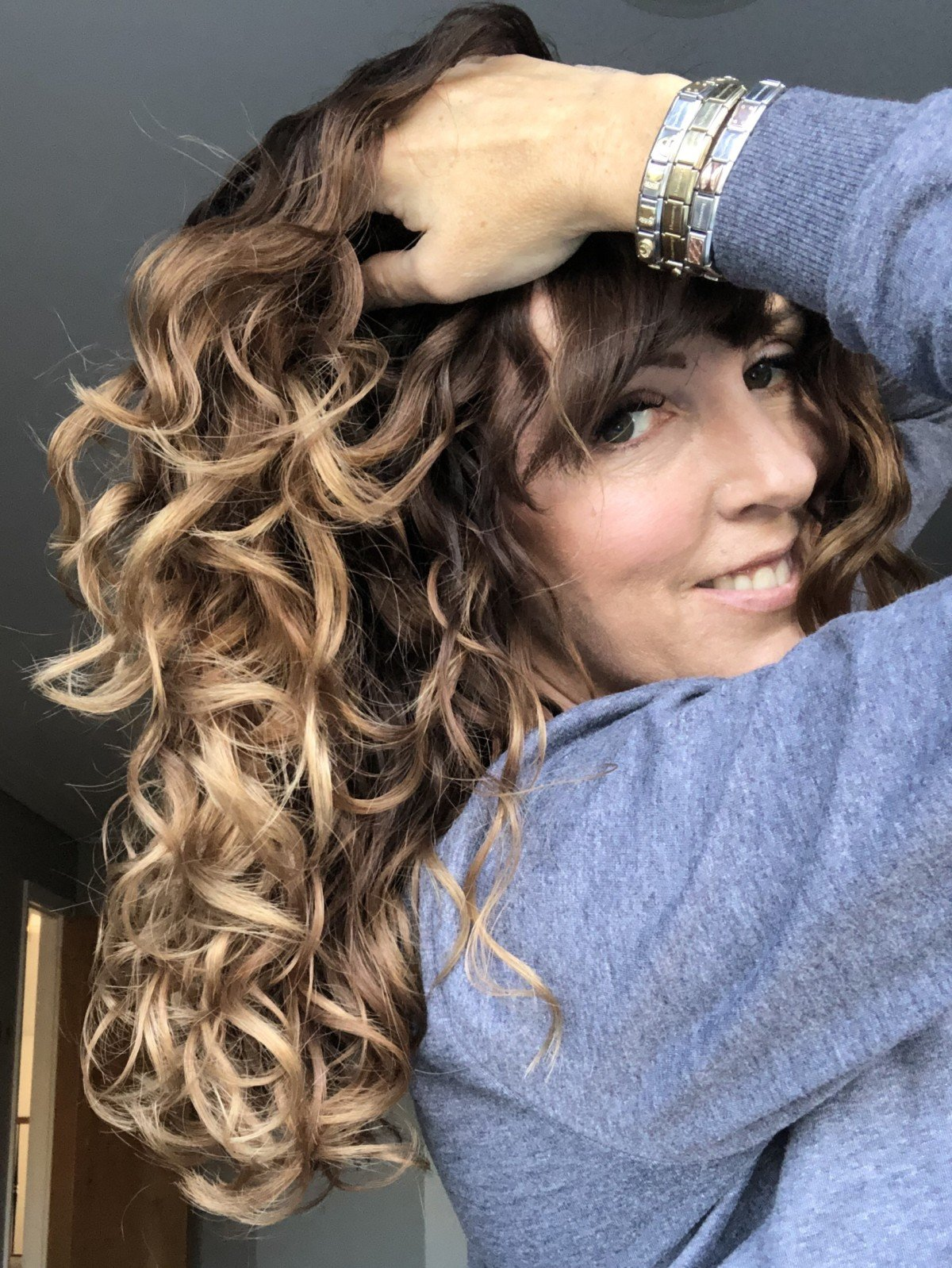 Only curls hair results Bouncy curls and locks
