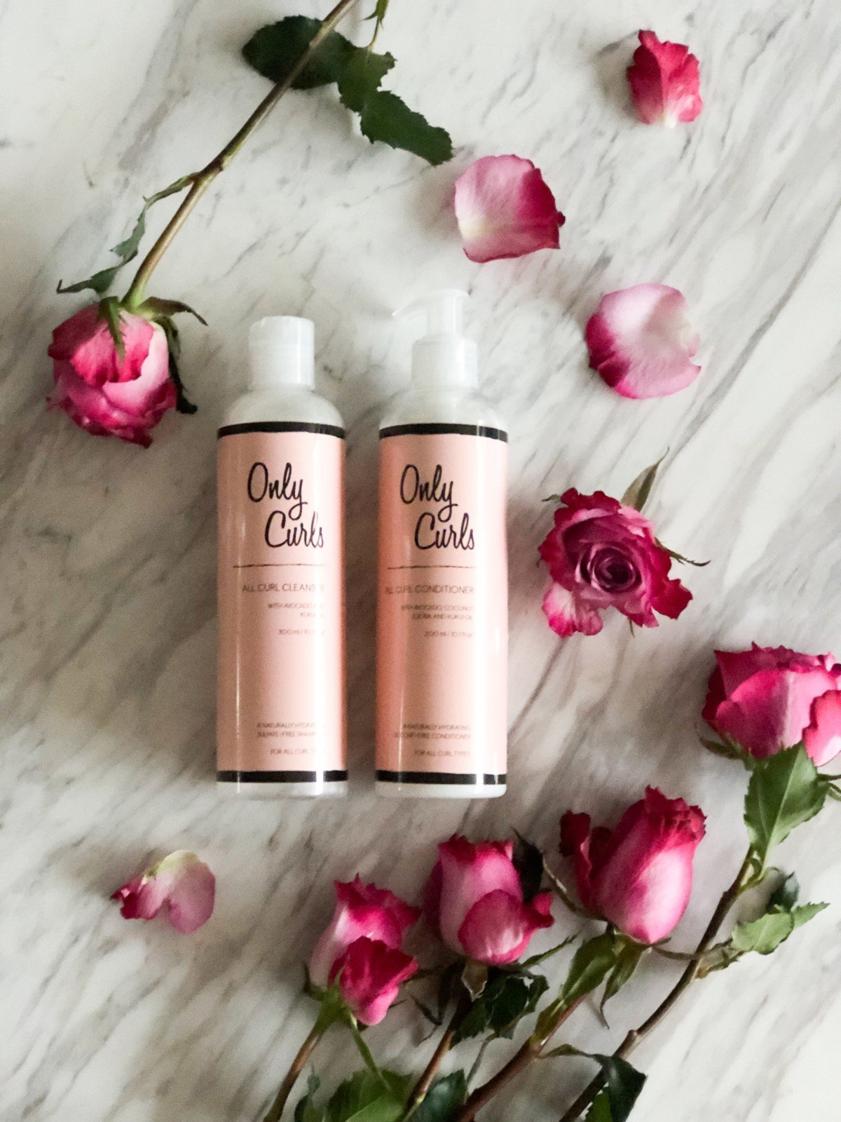 Specifically for girls with curls and perfect for the curly girl method Only Curls are a vegan natural brand straight from London. Only Curls Vegan Cleanser and All Curl Conditioner.