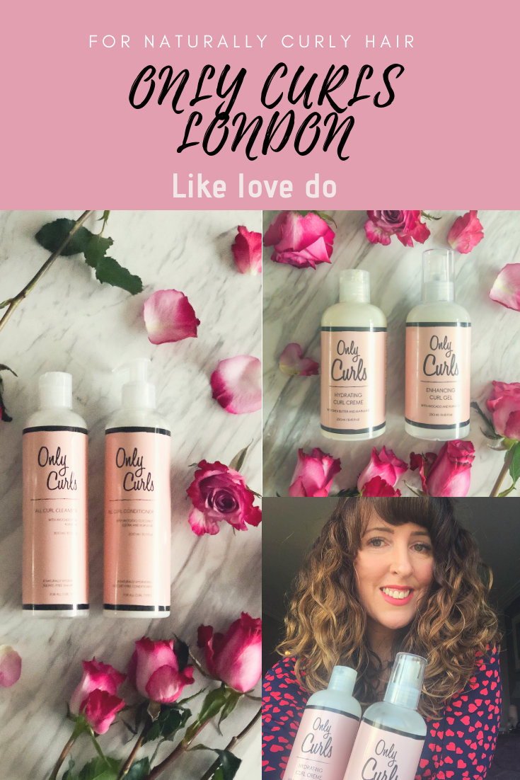 Specifically for Curly hair with curls and perfect for the curly girl method Only Curls are a vegan natural brand. Only Curls Hydrating curl creme and Curly girl UK approved Enhancing Curl gel.