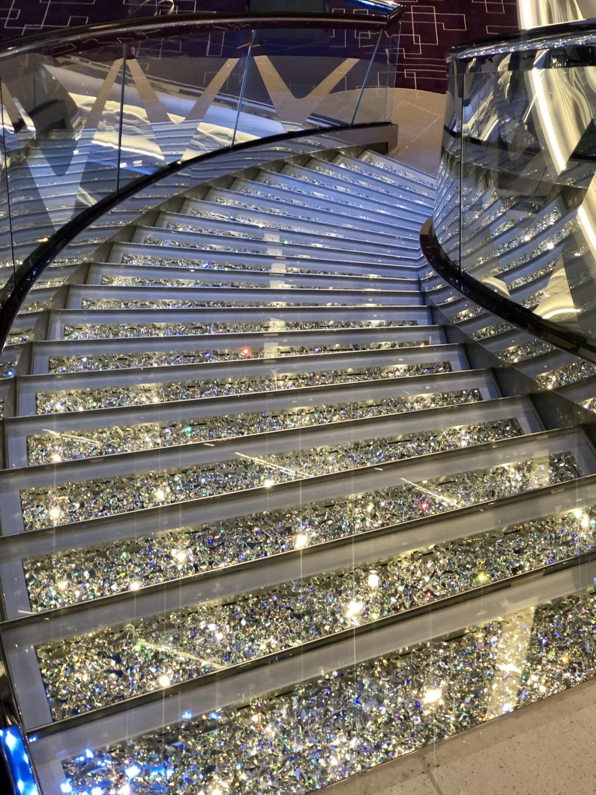MSC Bellissima Crystal Stair are over £8000 each, these are in the central atrium