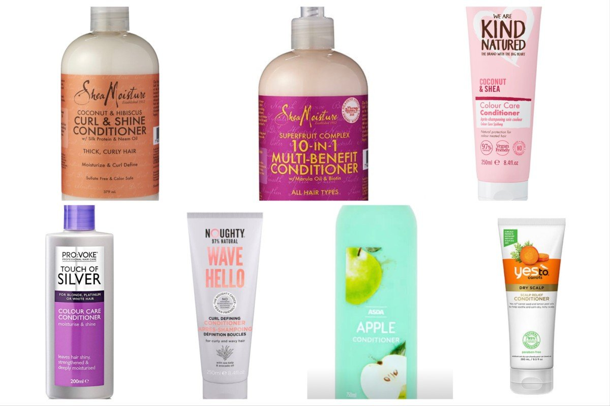 curly girl conditioners from Superdrug and Boots and UK supermarkets