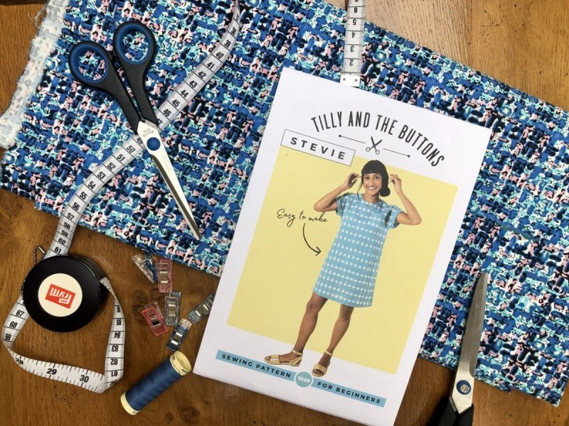 Beginners Sewing your First Stevie Dress a Tilly and the Buttons Pattern