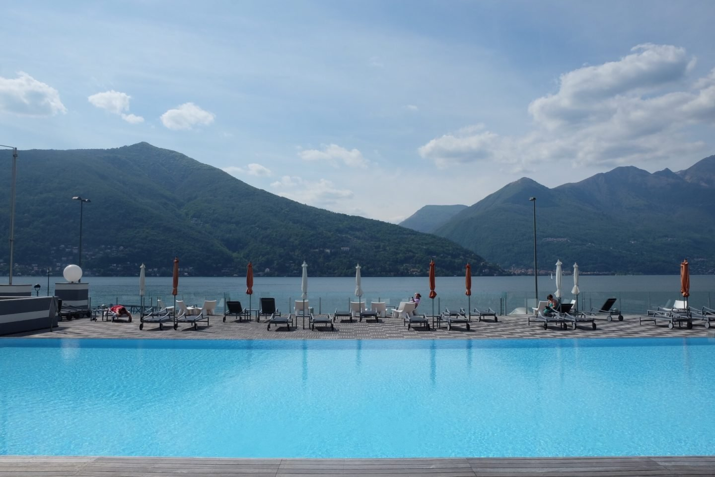 The pool at Golfo Gabellla was perhaps the most beautiful spot with an infinity pool overlooking the lake Maggiore