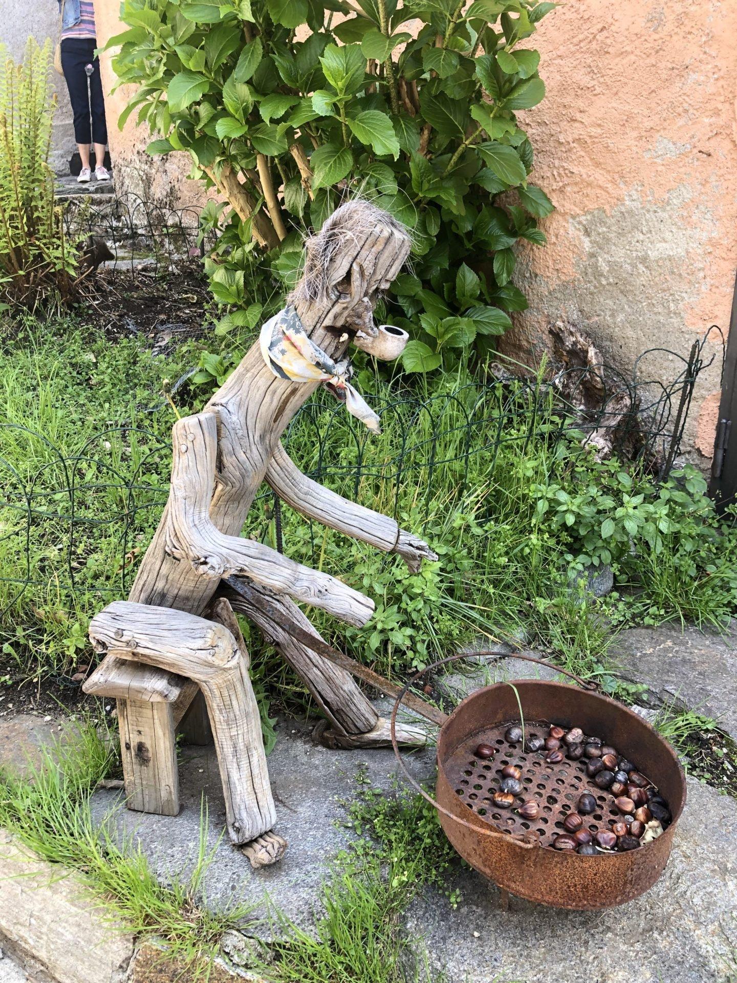 Roasting chestnuts in Lake Maggiore
