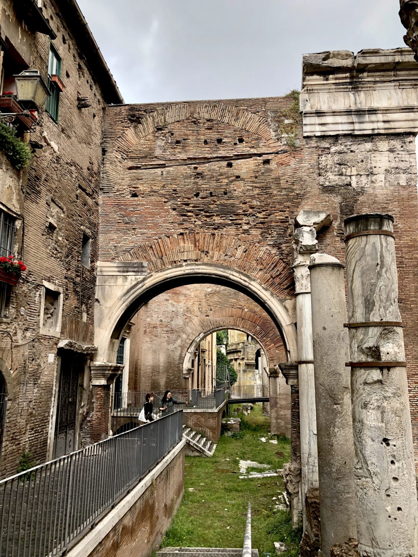 The Portico of Octavia is the remains of an ancient walkway through to the Temple of Apollo.