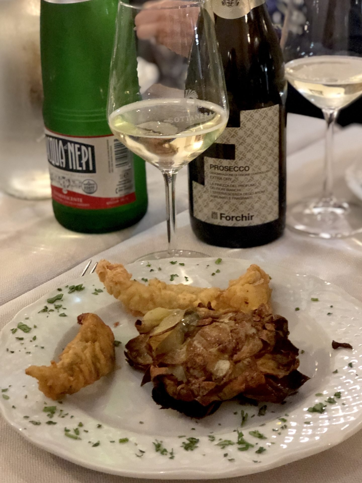 Jewish artichoke is eaten around the area as snack or a main meal. in Rome