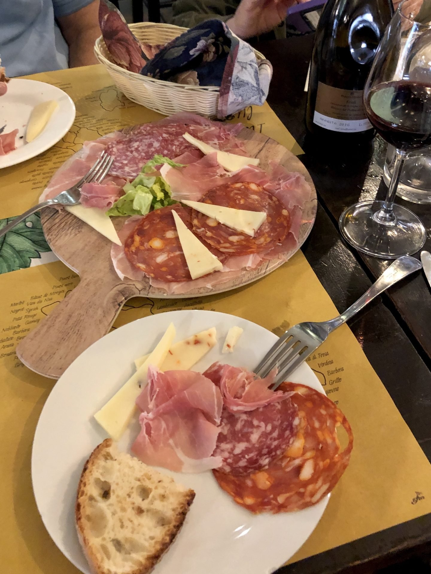 The Wine was a Refossco made with a young grape from the area of Refossco it  certainly went down a treat with our Italian Ham and Caciocavallo cheese.