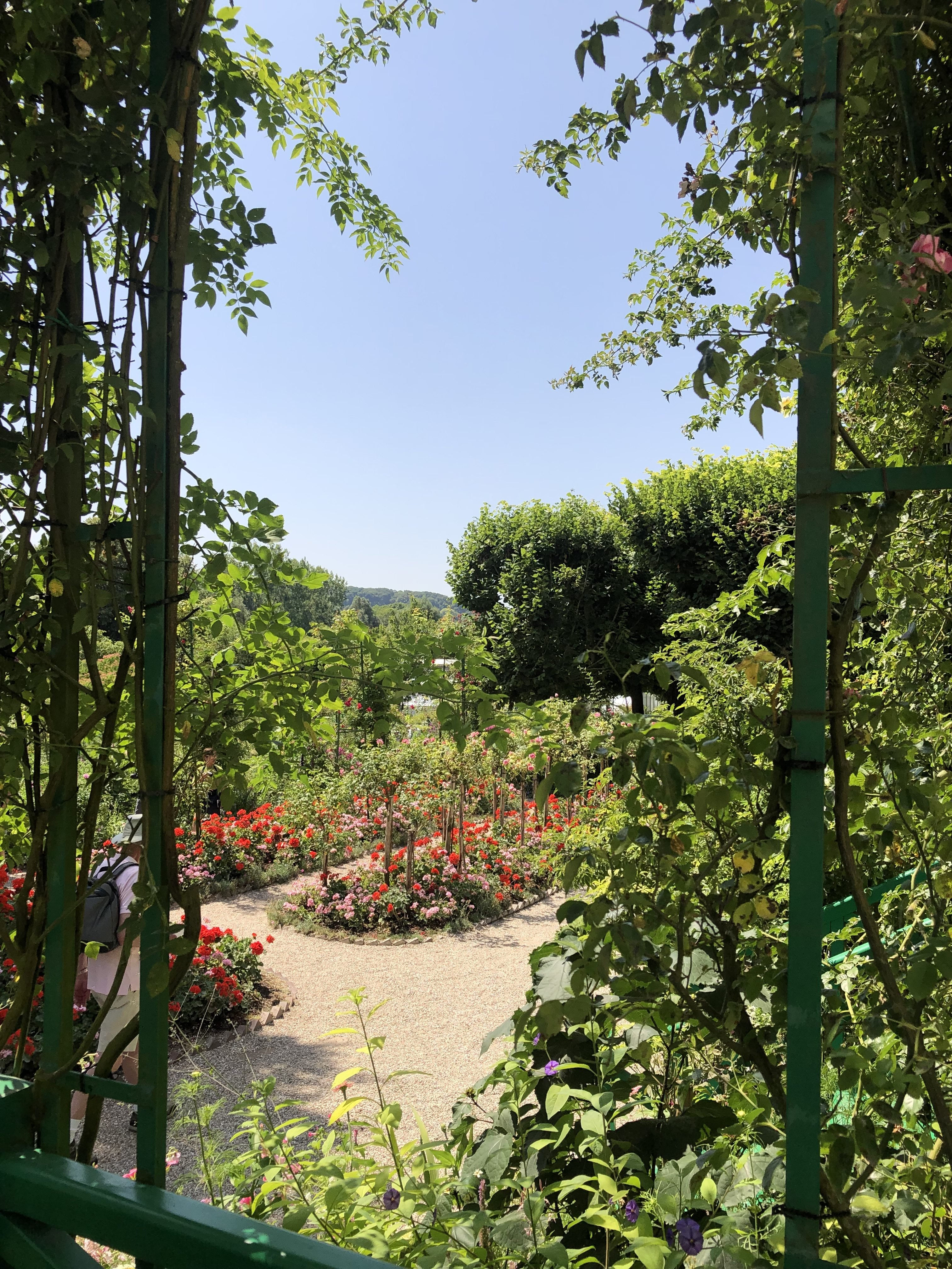 The windows from the house had the must spectacular views of Claude Monet's Gardens in Giverny France.