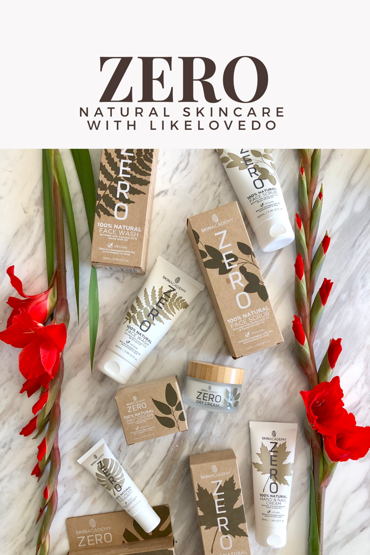 Zero Skin academy 100% natural skincare, no paragons, vegan and cruelty free. Skincare that is for the environment and recyclable