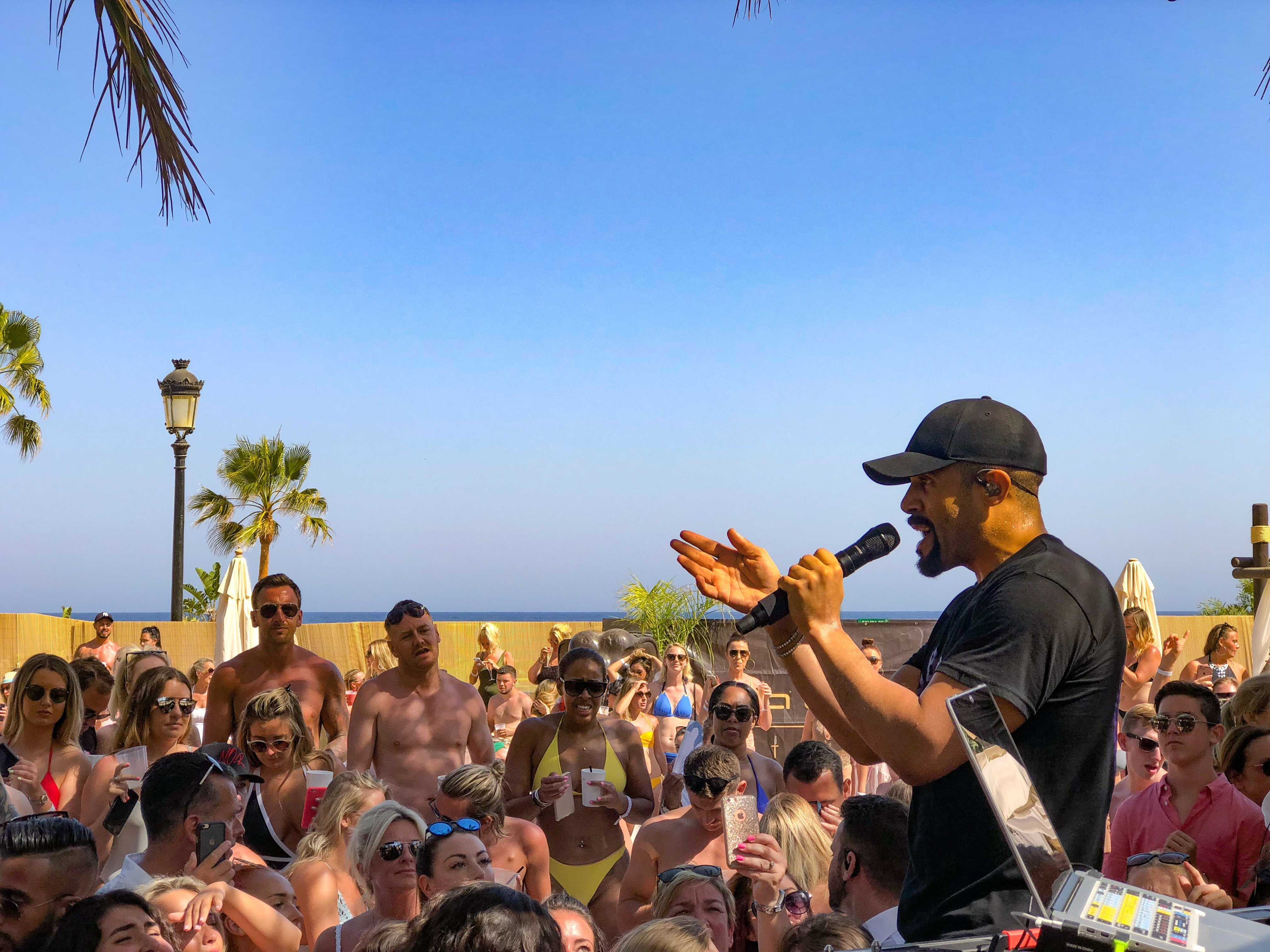 Craig David Playing at La Sala beach Club Puerto Banus Marbella