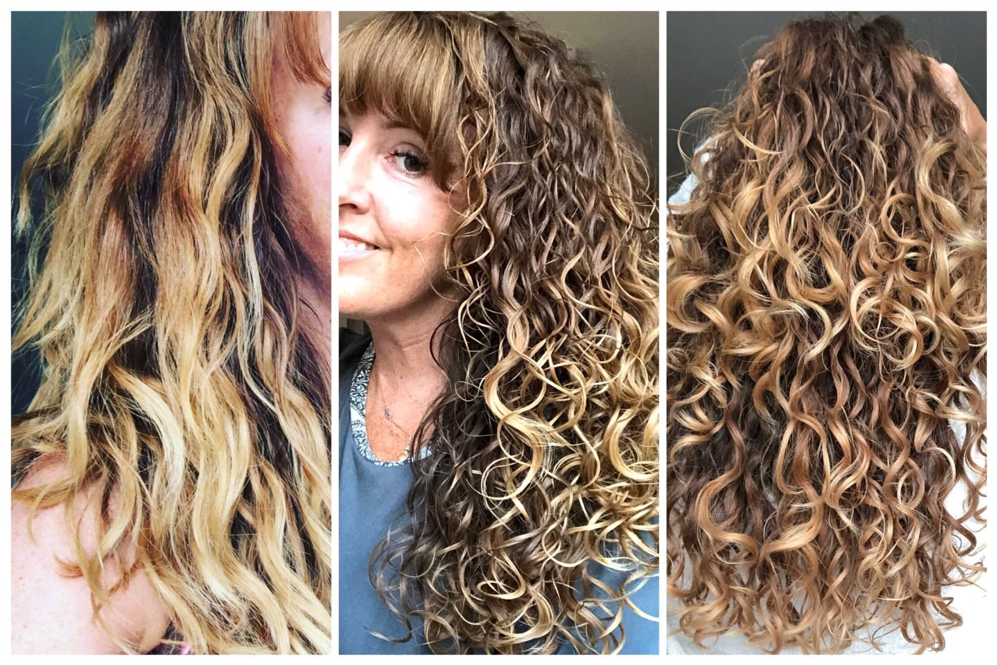 Rice water rinse before and after photos of the rice water rinse for curly hair and the curly girl method
