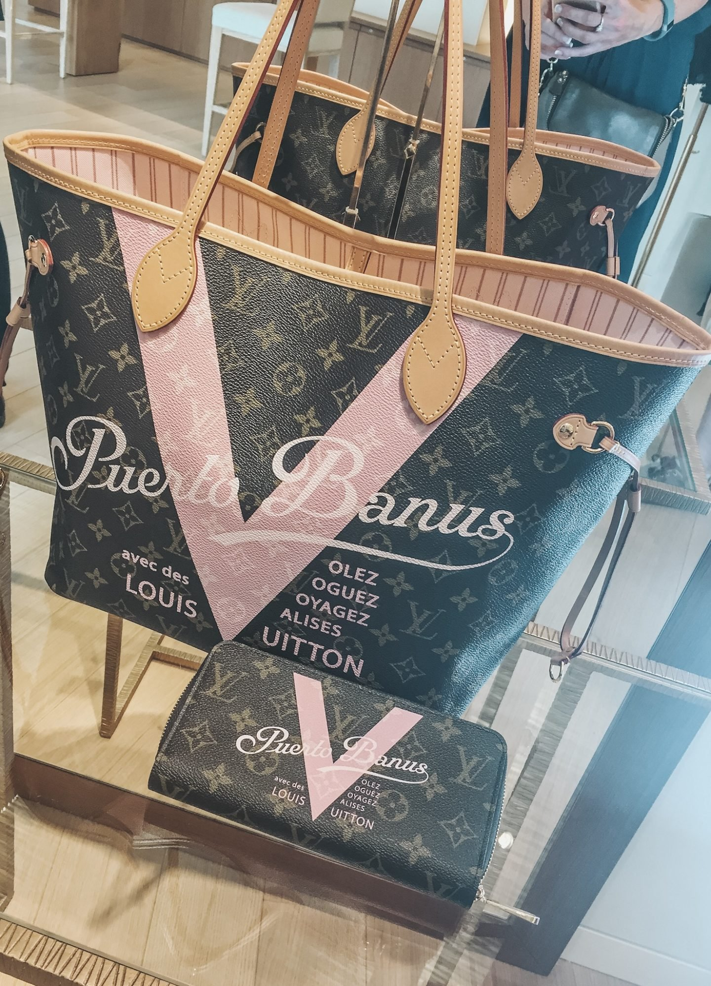 Louis Vuitton Puerto Banus special edition bag Neverfull in the shop