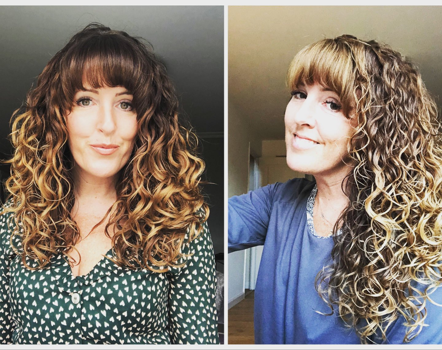 This photo shows my hair growth in six months so the curly girl method and taking care of my hair is certainly doing something.