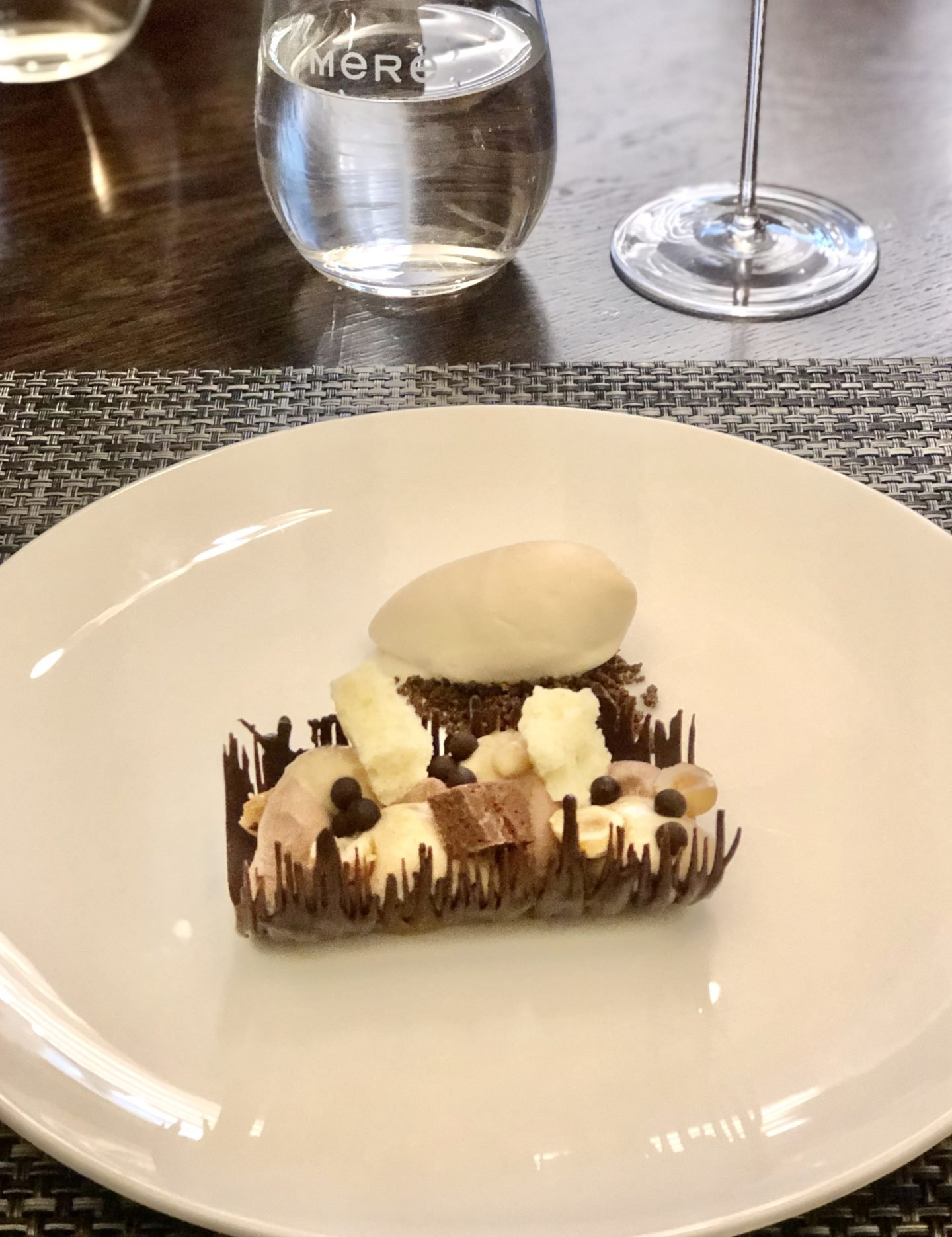 Chocolate and Hazelnut dessert at the Mere