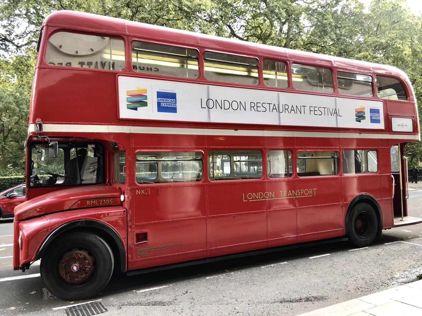 London restaurant festival route master bus