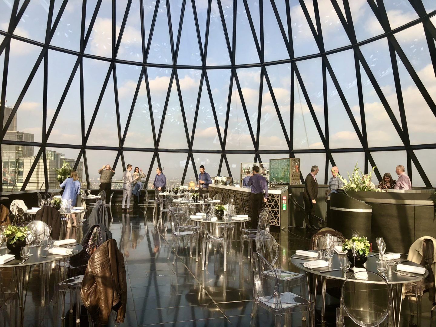 London Restaurant Festival experience at the Gherkin in London