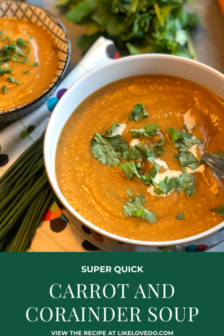 Quick and easy carrot and coriander soup Coriander, use fresh or ground coriander to add some warmth to your soup.