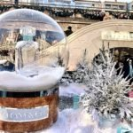 Tiffany Perfume snow globe at Covent garden ice rink best ice rinks in London