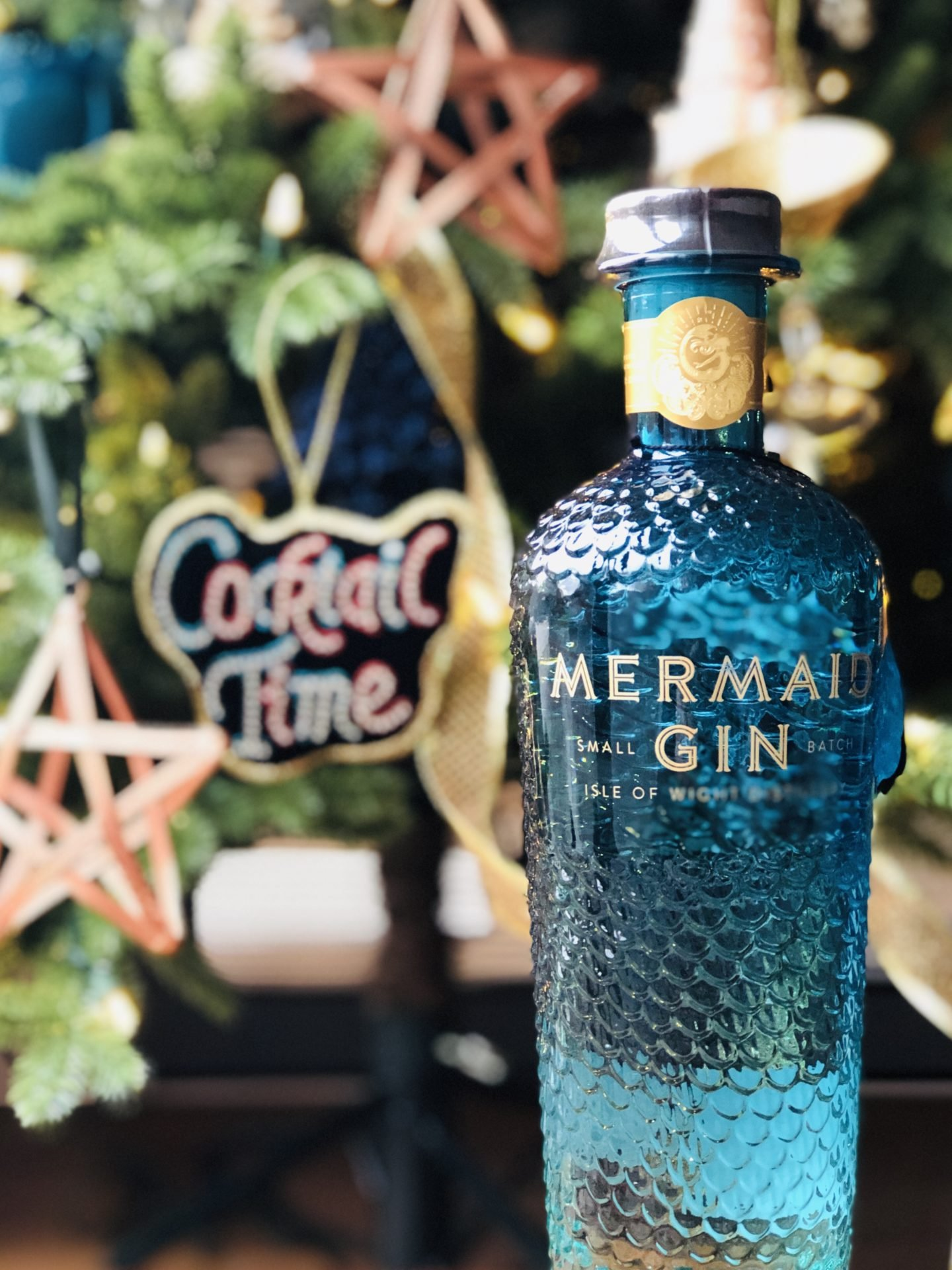 Hand Crafted Gin from the Isle of Wight mermaid gin