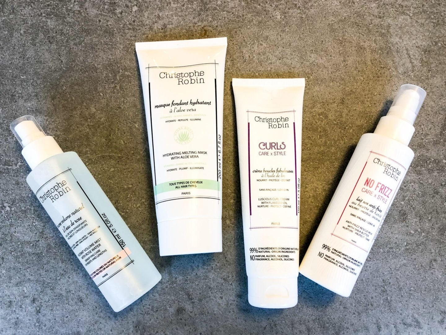 Christophe Robin curly girl method approved Anti-Frizz Rescue Milk with Shea Butter
