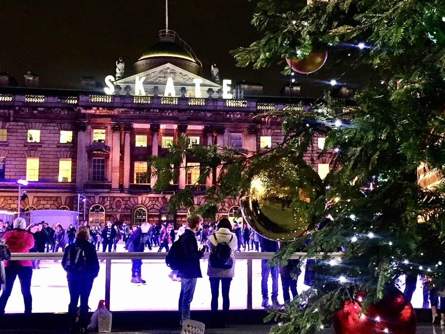 11 Best Ice rinks in London. Skate Ice rink at Somerset house
