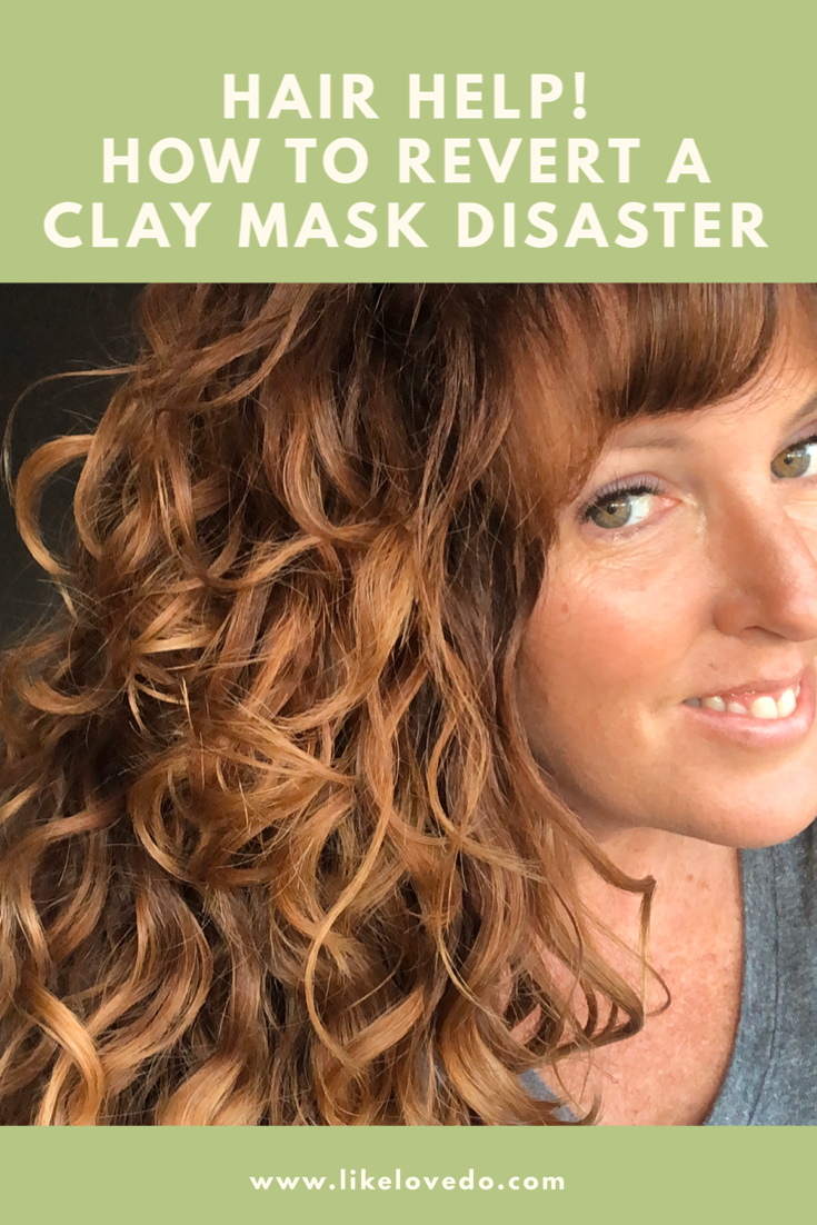 How to revert a bentonite clay disaster and get clay out of your hair when doing the curly hair method