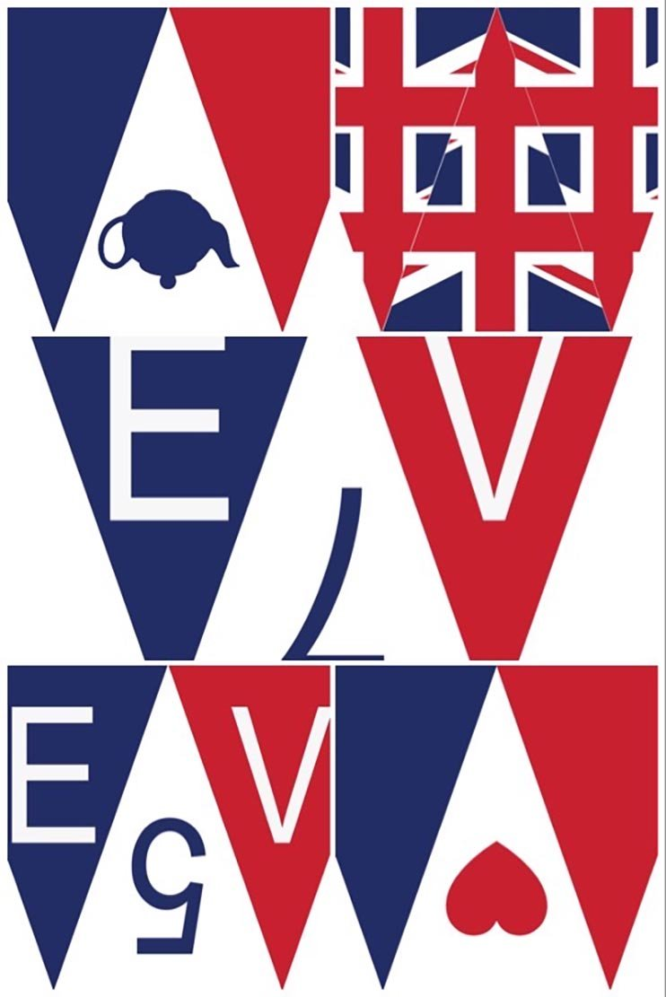 VE Day bunting to print at home