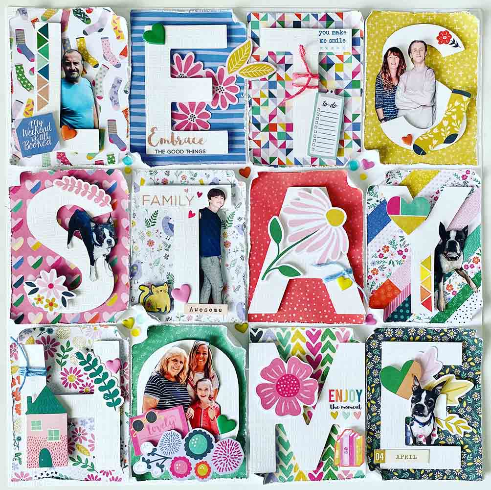 scrapbooking lets stay home layout