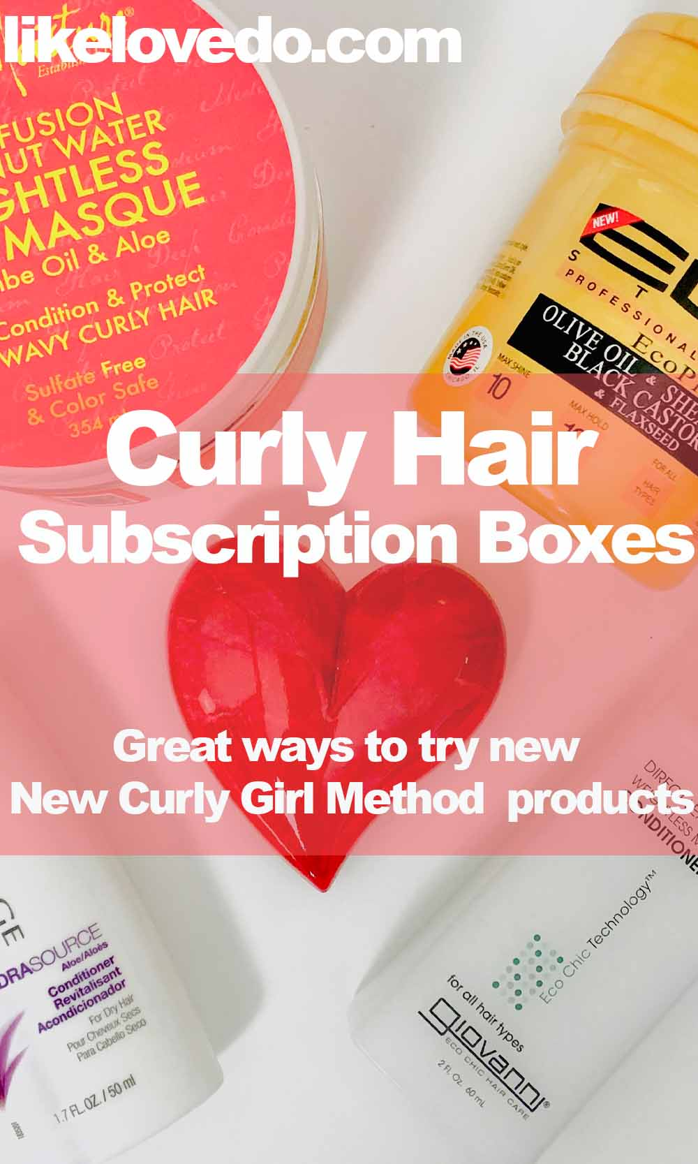 Curly girl method hair subscription boxes pin image