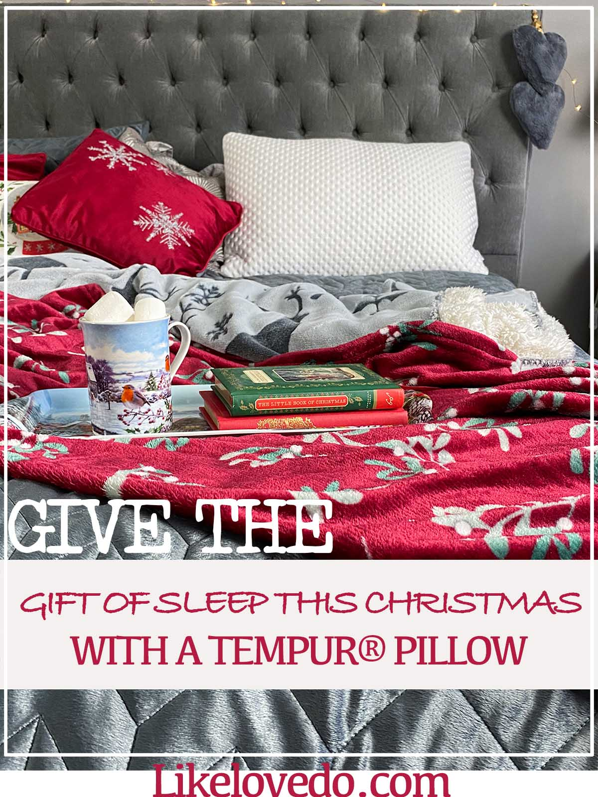 Give the Gift of sleep this christmas with a TEMPUR® pillow this christmas