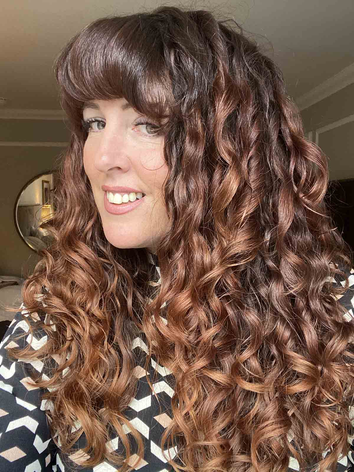 curly girl method how to get a gel curl cast picture of curls scrunched out