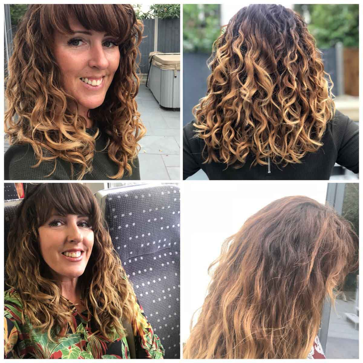 Question and answers on curls Donna Vallance Before and After