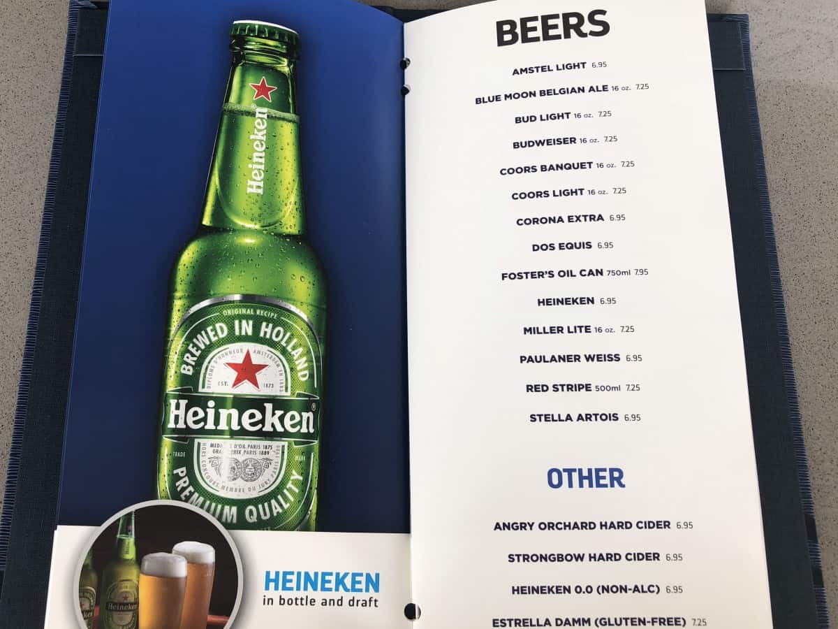 These Royal Caribbean pool bar drink menus can be found at all of the pool bars. Beers menu