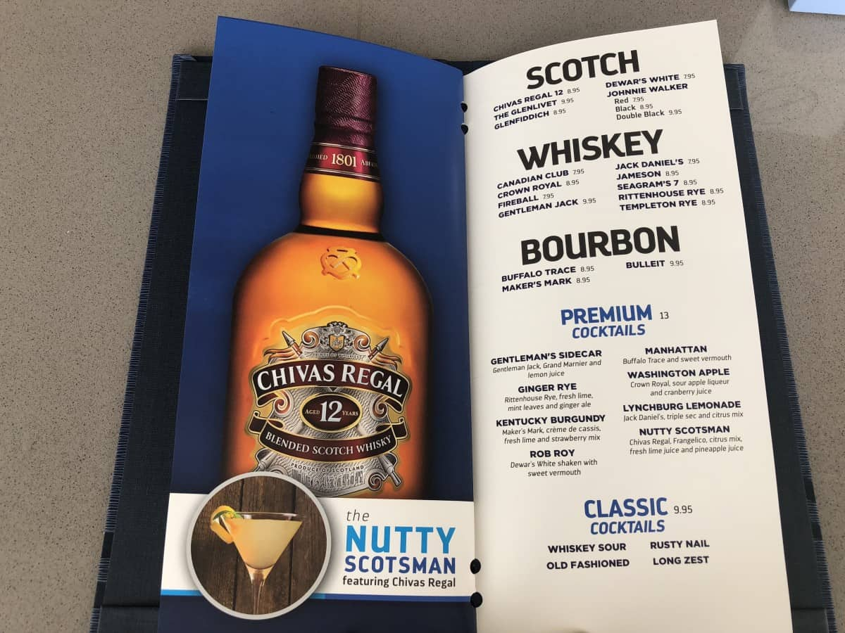 These Royal Caribbean pool bar drink menus can be found at all of the pool bars. Scotch menu