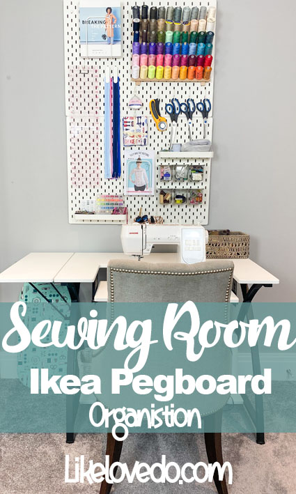 Sewing Room Pegboard from Ikea Ideas for organising your pegboard
