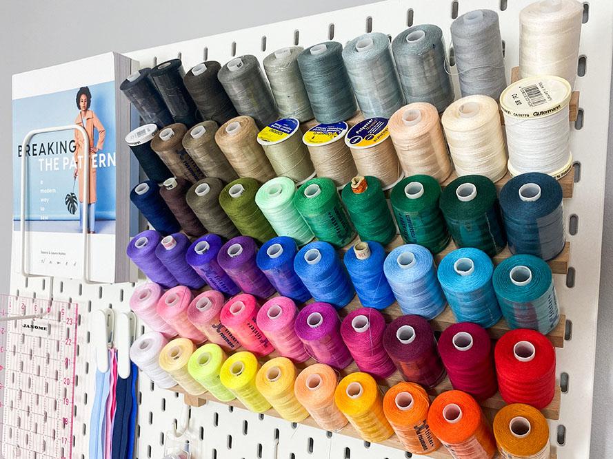 Sewing Room Pegboard Like Love Do