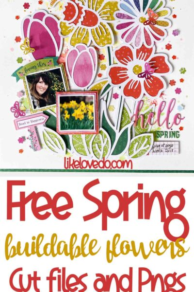 Free buildable scrapbooking spring flowers pngs svgs