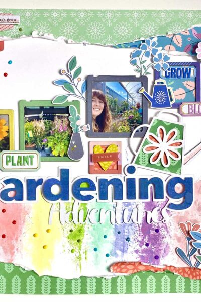 Free Gardening cut file foe scrapbooking layouts adventures