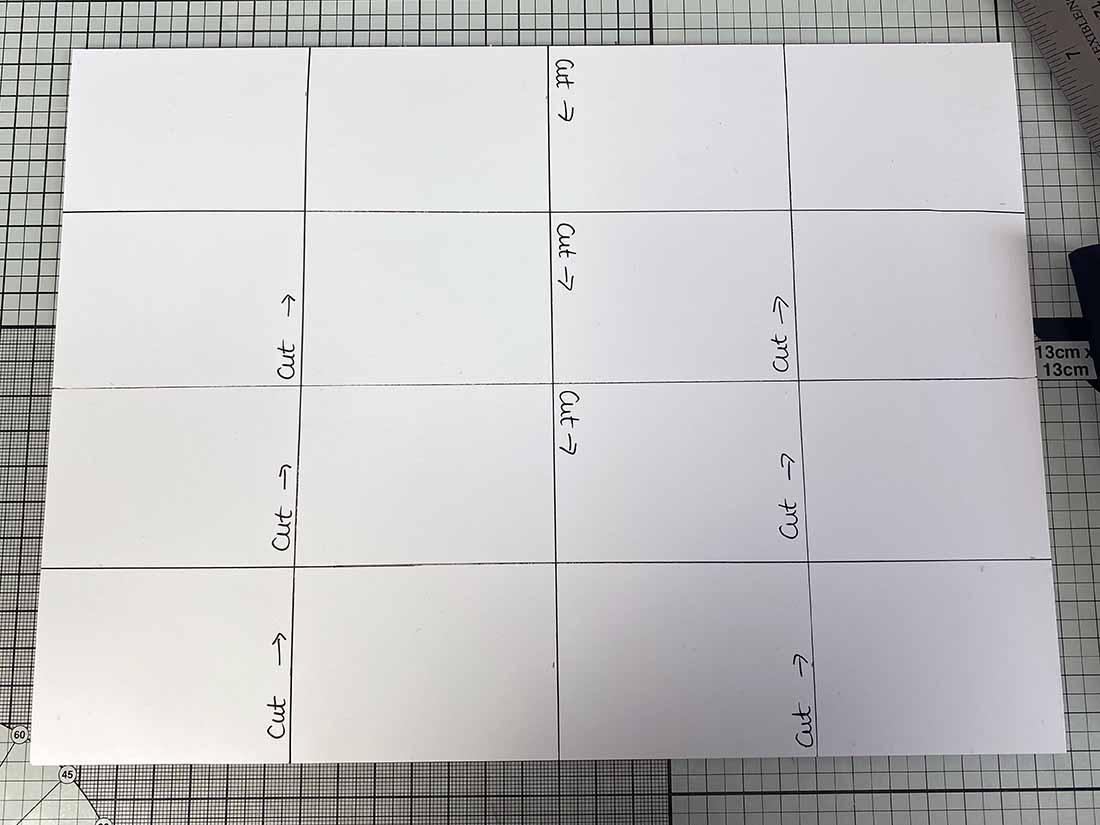 one sheet of A4 mini book measurements